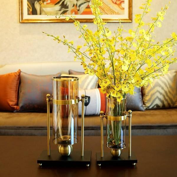 Américain Maison Salon Table Vase Décoration Ornements Creative Verre  Chandelier Décoration