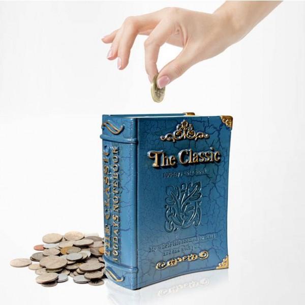 Mode Résine Tirelire Banque Décoration Décoration Canettes Coin Jar Livre boîte de rangement tirelire cadeau d'anniversaire