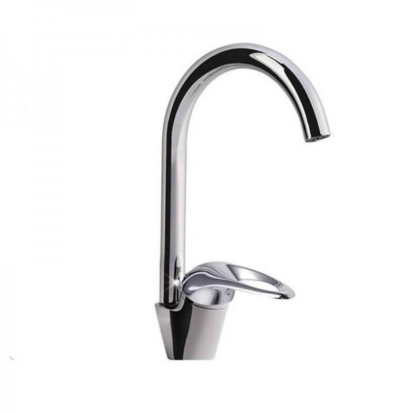 Robinet de cuisine 360 degrés pivotant évier robinet robinet blanc couleur laiton nouvellement robinet 9099W