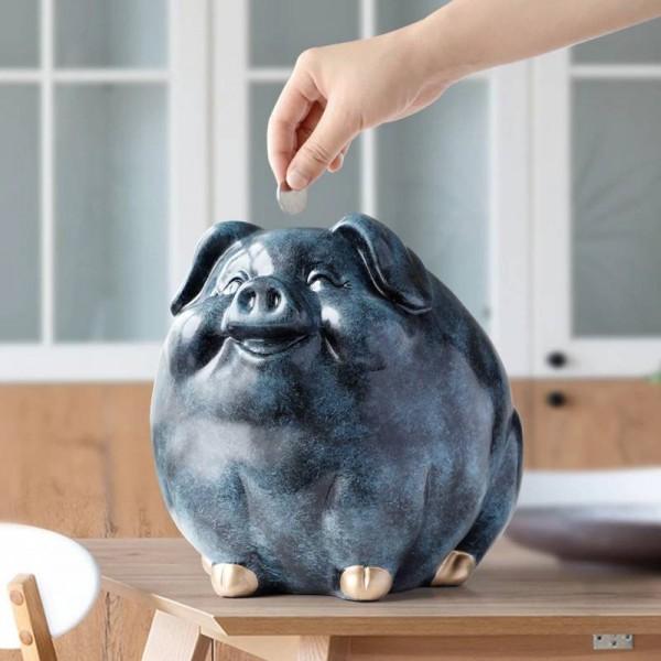 Tirelire cochon pour enfants cadeau résine animal statue cas tirelire boîte créatif amusement tirelires cochon pour enfants tirelires mignon