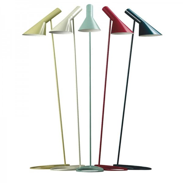 Lampadaire coloré simple permanent E27 LED à économie d'énergie en métal blanc noir jaune coloré lampadaire pour le salon