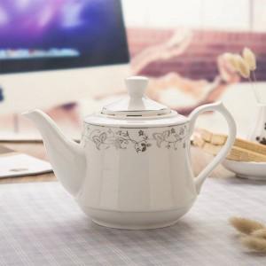 Poignée en céramique en céramique de pot de filtre moderne de 1000ml / 1600ml théière / bouilloire à la maison de grande capacité
