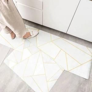10 conception cuisine tapis de sol étanche à l'huile imperméable à l'eau longue bande anti-dérapant pied tapis ins