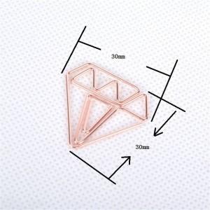 10 pcs Nordic Office Placage Diamant Clip De Stockage Chic Ins Fer Forgé Or Mini Document Marque Clip De Stockage Clip D'étanchéité