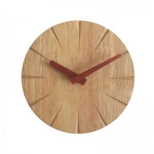 15 cm créatif horloge murale en bois massif salon personnalité simple horloge moderne bricolage ultra calme chambre petite horloge murale