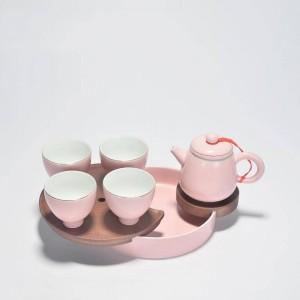 180 ml Brief rose en céramique théière bureau bureau Kung thé mis Puer Tieguanyin thé bouilloires à la main Drinkware envoyé ami cadeaux