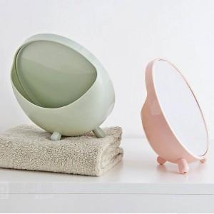 1 PC miroir de maquillage de bureau rond miroir de vanité étudiant miroir de bureau dortoir portable princesse miroir wx8291807
