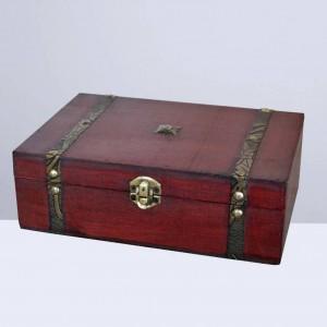 1pc boîte à bijoux vintage boîte à cadeau en bois rétro boîte à trésor en bois boîte à bijoux en bois sans serrure