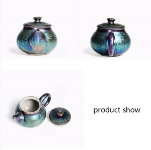 200ml Creative Glaze Coloré Théière En Céramique Art Xishi Pot Décoration Bouilloire Pots Drinkware Teaware Artisanat Collection Boutique