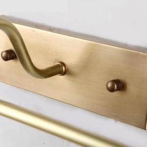 Nouveau design Long tube Étanche miroir Lumière Réel cuivre miroir avant lumière AntiRust maquillage LED Luminaire Salle De Bains Lampe
