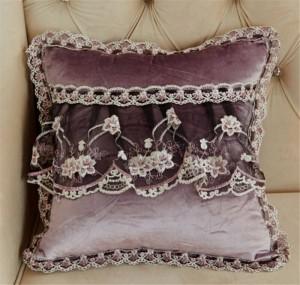Velours luxe canapé housse de coussin rond dentelle gland autour de lit maison voiture chaise modèle chambre ornement