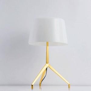 Design new Brief moderne décoration lampe de table trépied noir blanc lumière chambre belle décoration E27 ampoule led