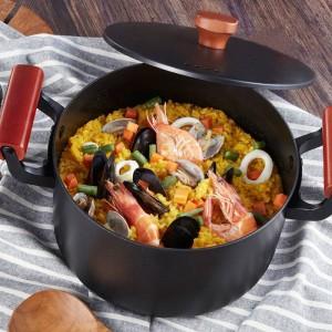 2019 Date De Haute Qualité Famille Pot À Soupe 4.5L En Fonte Marmite Pot De Cuisson Pour Cuisinière À Gaz Cuisinière À Induction