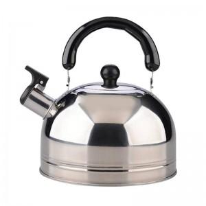2.5L Whistling Bouilloire Cuisinière Épaissir En Acier Inoxydable Sifflet Thé Bouilloire Café Bouteille D'eau Pour Voyage Camping
