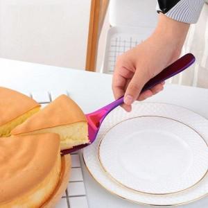 2 Pcs En Acier Inoxydable Dentelée Edge Cake Server Lame De Couteau avec Couteau À Gâteau Pizza Cake Pelle Cuisine Cuisson De La Pâtisserie Spatules