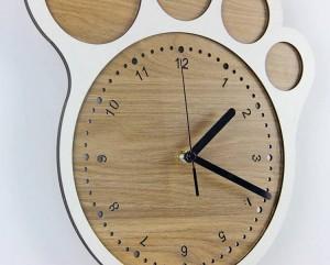 33 * 30cm Simple art horloge créative Pieds horloges horloge murale salon chambre silencieux horloges décoration murale