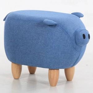 35% de réduction sur la vente! Canapé en tissu Tabouret Tabouret Pouf Chaise Pouf Pouf Sac Enfants Jouets Repose-Pied En Bois Massif Nordic Home Deco Meubles Pig