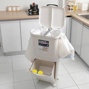 Poubelle de poubelle de poubelle de poubelle de poubelle de classification de la classification 45L pour la cuisine de grande capacité poubelle à deux étages de poubelle