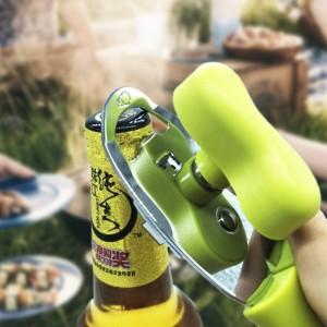 4 en 1 manuel ouvre-boîtes en acier inoxydable à conception ergonomique poignée bouteille bouteille operner durable tranchant lames en métal ouvre-pots