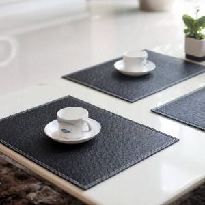 4 Pcs / lot Européen Set De Table Dessous De Verre Isolant Thermique Vaisselle PVC Décor Cuisine Dinning Bol Bol Étanche Pad Tapis De Table
