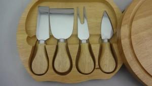 4pcs couteau à fromage dans une boîte en bois, couteau à fromage