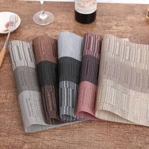 4pcs / lot set de table de mode PVC table à manger tapis bol pad sous-verres imperméable table pad plaque plat dessous de verre cuisine accessoires
