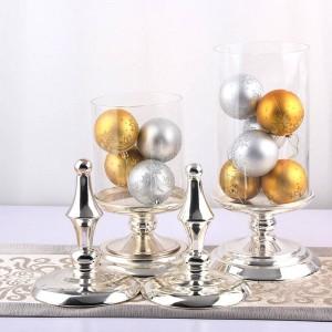 50 cm de hauteur en verre pot de bonbons européenne de stockage en métal de haute qualité peut mariage banquet table décoration conteneur de stockage des aliments bouteille