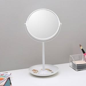 6,5 pouces miroir double face miroir de maquillage miroir coiffeuse miroir bureau double couche stockage décoratif miroir wx8161509