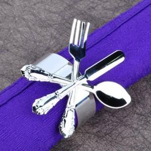 6pcs serviettes de table Set forme titulaire mariage banquet dîner serviette anneau exquis hôtel restaurant dédié bouche serviette en tissu