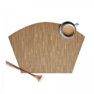 6pcs / set en forme d'éventail Design Table PVC Isolant Pad Non Slip Table Tapis Cuisine Accessoires Décoration Maison Pad Coaster Napperons