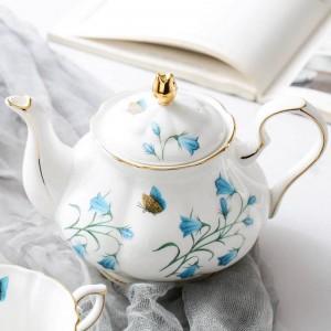 Théière en céramique de porcelaine en céramique de modèle de pot de café de style européen 780ml / bouilloire moderne petit déjeuner pot de lait bouilloire de jus