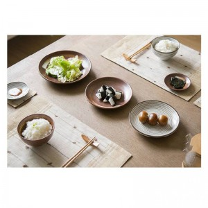 7pcs / set Japon style Promotion en céramique Procelain dîner ensemble BLUE TABLEWARE SETS INCLUE BOL PLAQUE 7 pièces amateurs dîner ensemble