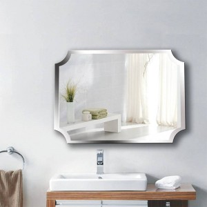 A1 Simple sans cadre intérieur coin salle de bains miroir suspendu salle de bain toilette maquillage maquillage vinaigrette pâte suspendu miroir wx8221858