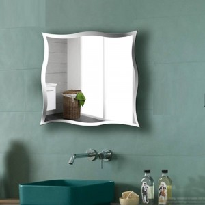 A1 Miroir mural sans cadre pour salle de bain miroir de toilette personnalisé dressing stickers muraux maquillage miroir wx8231015