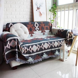 Tous les matchs Style exotique Couverture Throw Coton Fil Canapé Couverture Géométrique Housse Cobertor Doux Couvertures Pour Lits Bord Gland