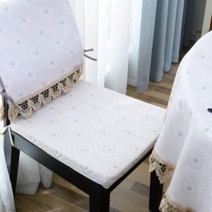 Incroyable nappe ronde Jacquard Dot nappe de luxe Decoracao Para Casa Beige Dentelle Bord Toalha De Mesa Tapete Table Cover