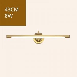 Américain De Cuivre Miroir Avant Lumières pour Salle De Bains Toilette LED Cabinet Lampe Maquillage Suspension Lampe Deco Murale Applique Luminaire