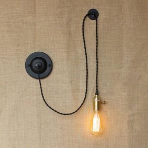 Pays américain bricolage art créatif lampes murales vintage Applique murale industrielle avec bouton pour interrupteur pour la lampe de lecture de chevet chambre