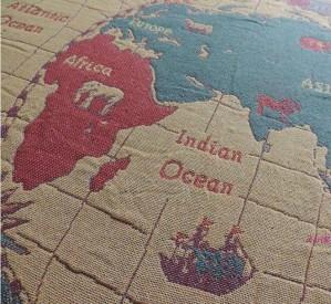 Carte américaine du monde couverture coton fil couverture salon tapis tapis
