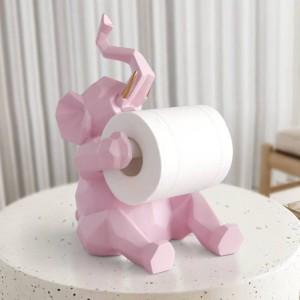 Statue des animaux Artisanat Décorations rouleau titulaire de papier salon salon bureau restaurant suspendu papier figurine éléphant / cerf décor à la maison