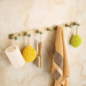 Crochet de vêtements de salle de bains de crochet de matériel de salle de bains antique en laiton brossé crochet de montage de salle de bains fixé au mur 2314A