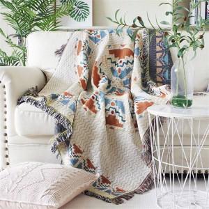 Aura de l'amour Throw Blanket Thread Canapé Couverture Géométrique Protection Cover Housse Cobertor Couvertures Pour Lits Gland Noël