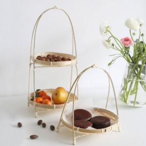 Bambou Tissage Paniers En Osier Plat Maison Faite Maison Décorer Rangement Pain Aux Fruits Aliments Pour Organisateur De Cuisine Panier Osier