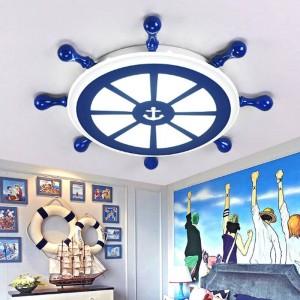 Bar salon art deco marin lampe led luminaires plafonnier chambre enfant bureau bleu lumière salle à manger étude led plafonnier