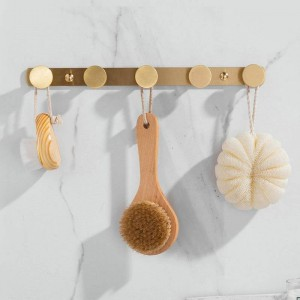 Crochet en laiton brossé Crochets à vêtements crochet crochet accessoires de salle de bains montés au mur Crochet de vêtements en laiton crochet de porte