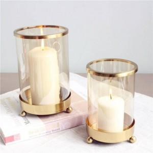 Porte-bougie bref métal placage bougie base aromathérapie nuit lumière aux chandelles dîner de noël décoration artisanat parure