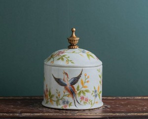 Bonbonnière rétro-nostalgie européenne céramique pot scellé pot de thé pot créatif ménage rangement divers