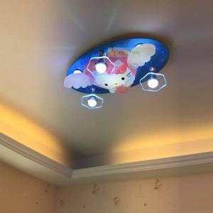 Bande Dessinée Plafond De L'économie D'énergie Lampe Led Chambre Des Enfants Chambre Chambre Garçons Et Filles Kitty Bonjour Kitty Bluetooth Télécommande 220 V