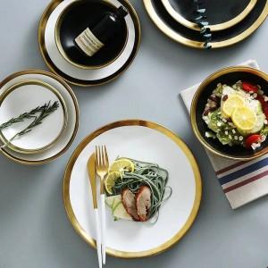 Assiette de petit-déjeuner en céramique pour le petit-déjeuner des ménages