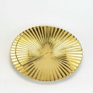 Bols décoratifs en céramique moderne créatif or géométrique rayures verticales décoration de la maison ornements